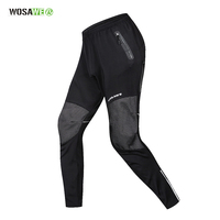 WOSAWE Winter Cycling Pants Trouser Warmth Long Sport Bike Riding Fishing Fitness Trousers Reflective Windproof Cycling Clothing