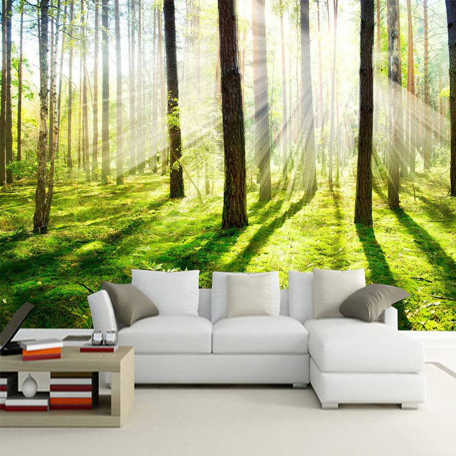 compare prices on room wall murals online shopping buy low price custom 3d photo wallpaper hd sunshine woods forest living room sofa bedroom tv background wall mural