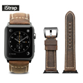 iStrap Handmade Assolutamente Leather Watch Band For Apple Watch 38mm 42mm Tang buckle Spring Bar Adapter For iWatch 38mm  42mm