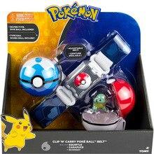 Takara Tomy anime pikachu Pokemon Clip n Carry Ball Belt costume cosplay toys for children
