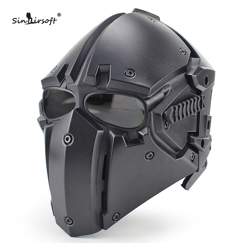 Hot New Tactical Helmet w/ Mask Goggle All-round NVG OBSIDIAN GREEN GOBL TERMINATOR Tactical Airsoft Express Free Shipping airsoft adults cs field game skeleton warrior skull paintball mask