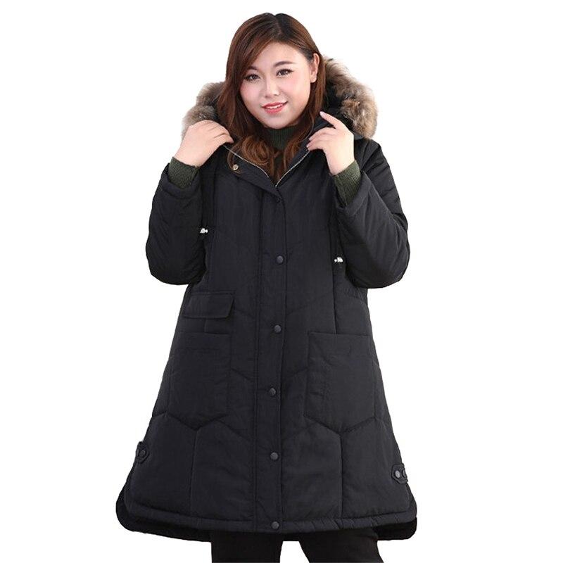 Plus rozmiar 4XL 10XL bawełniana kurtka kobiety parki zima zagęścić bawełny kurtka watowana kobiet z kapturem płaszcz duży rozmiar szczupła bawełna płaszcz w Podstawowe kurtki od Odzież damska na  Grupa 1