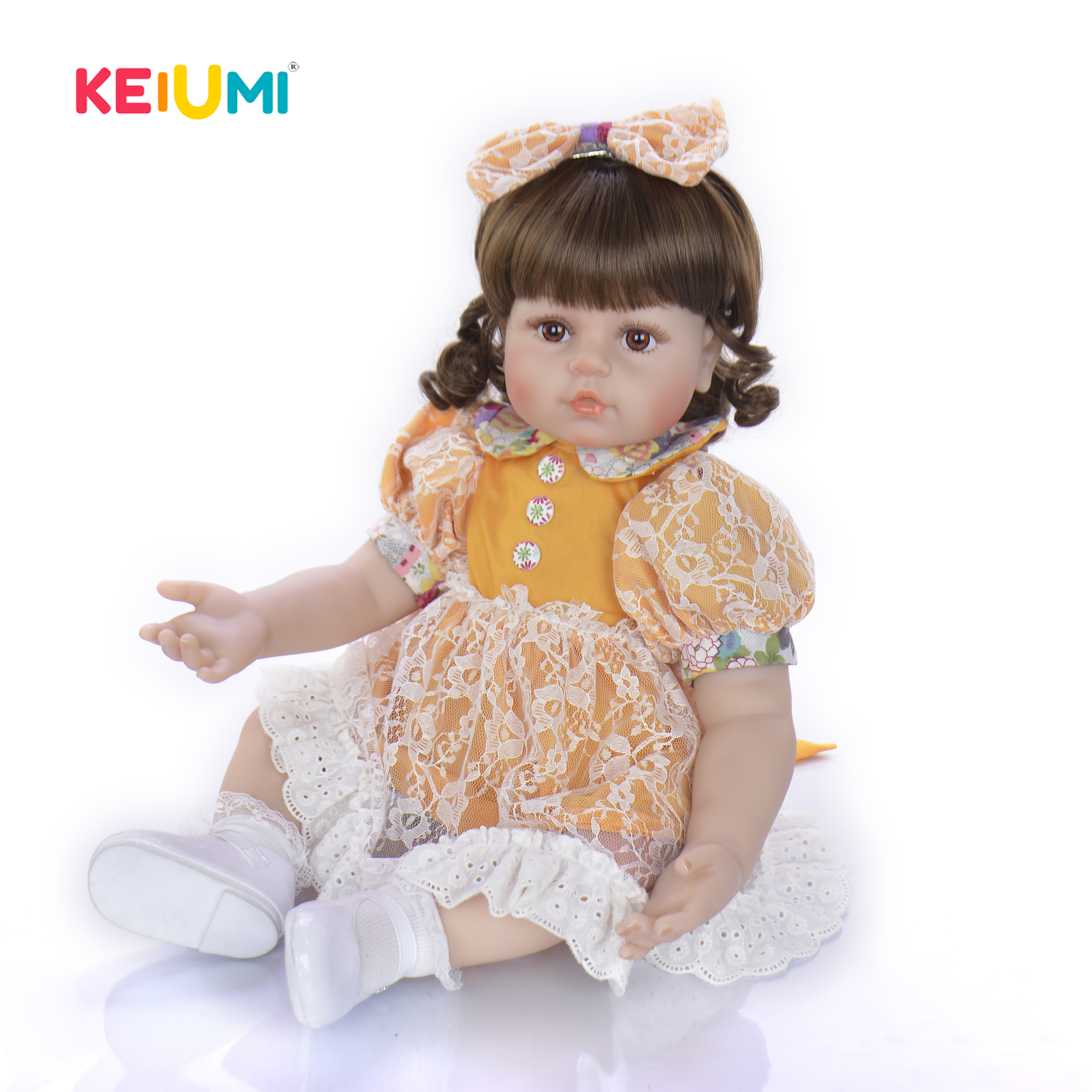 KEIUMI 2019 Lovely 24 Inch New Style Reborn Baby Girl Doll With Soft Silicone Vinyl Baby Cute Toy Doll For Childrens Day GiftsKEIUMI 2019 Lovely 24 Inch New Style Reborn Baby Girl Doll With Soft Silicone Vinyl Baby Cute Toy Doll For Childrens Day Gifts