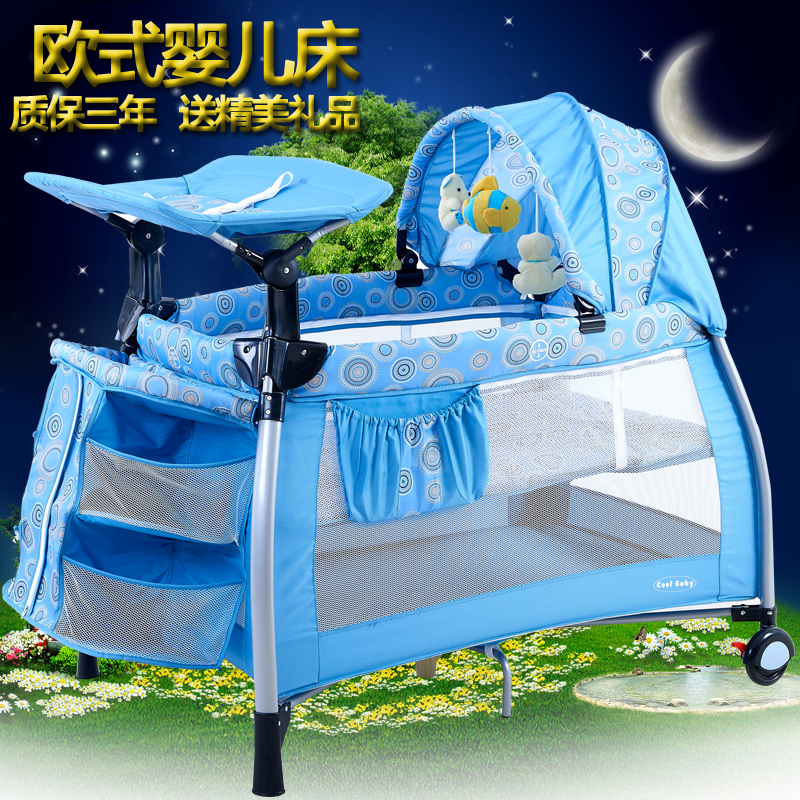 Coolbaby Multifunctional Baby Bed Portable Game Bed Fashion Crib Folding Baby Bed Bb Cradle Bed Baby Bedding Set Other free shipping 2016 hot sale baby crib portable detachable folding bed baby portable multifunctional folding baby bed