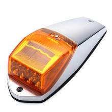Yellow Amber 17 LED Universal Cab Truck Trailer Roof Top Marker Running Warning Light Sign Lights For Kenworth DC12V