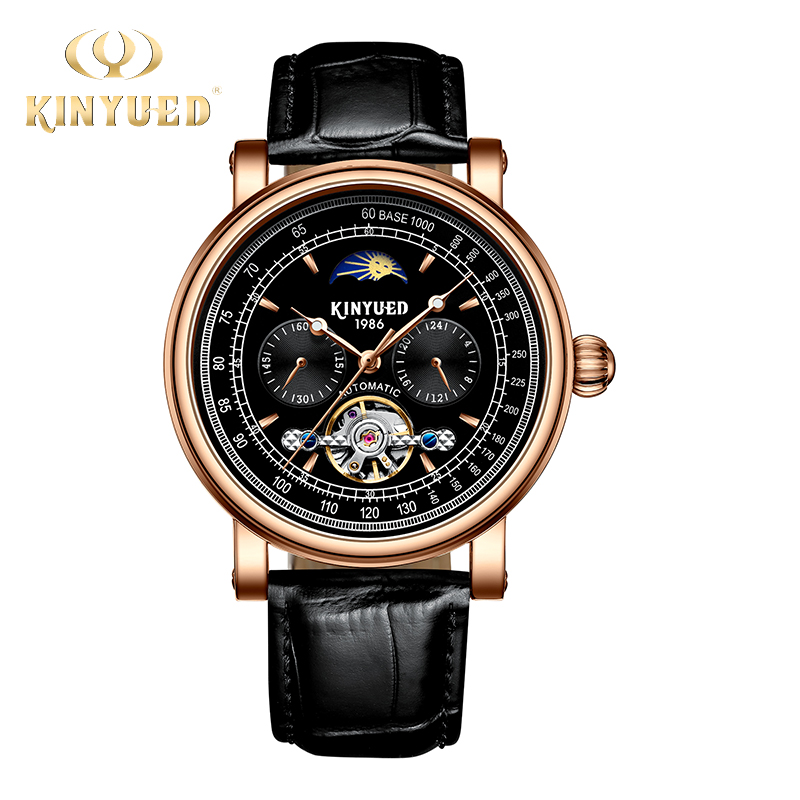 KINYUED Luxury Men Watch Skeleton Mechanical Man Top Watches Automatic Self-Wind Mens Wristwatches relogio masculino automatic t winner fashion skeleton self wind mechanical wrist watch men boy automatic mens watches dress clock gift relogio masculino