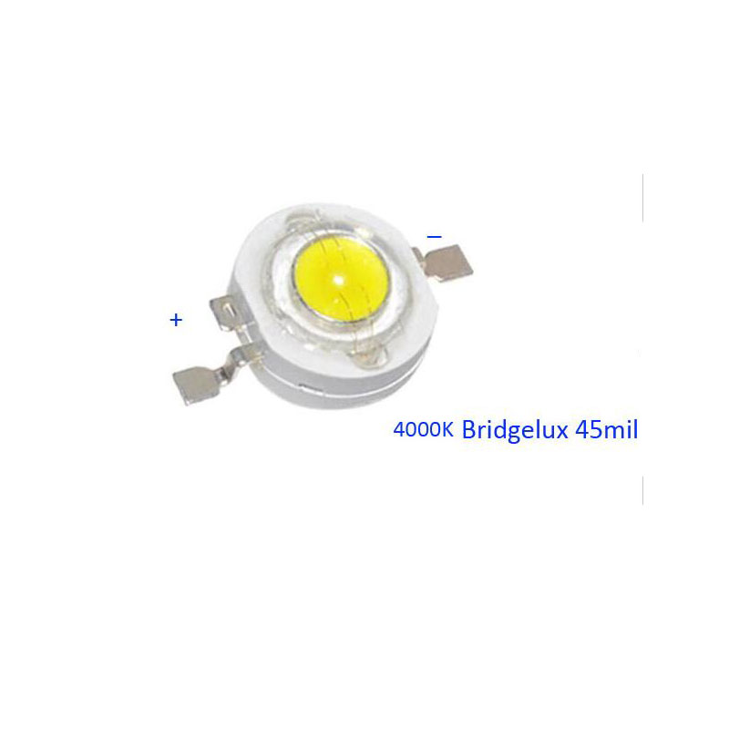 Factory Outlet 3W Led Diode Pure White  4000-4500K Led Chip With  Bridgelux 45mil 100% With Air Mail Tracking Number