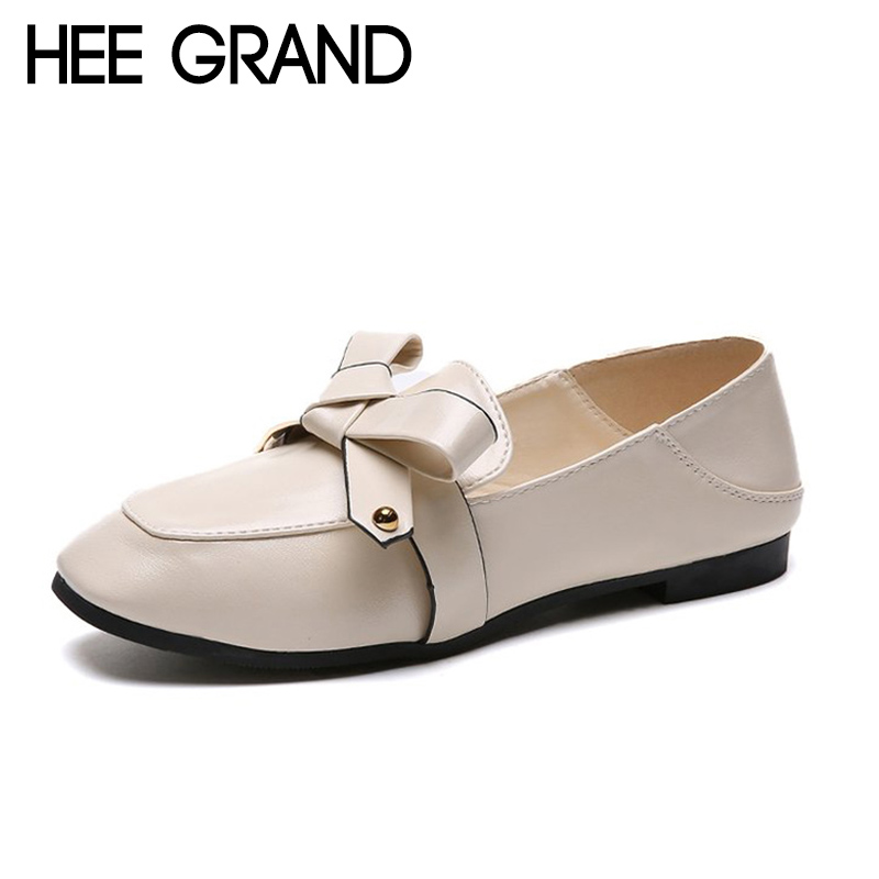 HEE GRAND 2018 New Autumn Women Flats College Style Slip-on Women Causal Fashion Oxford Soft Leather Mujer Shoes XWD6952 hee grand 2018 new fashion flats shoes women oxfords faux fur pu leather solid mother causal slip on british style shoes xwd6955
