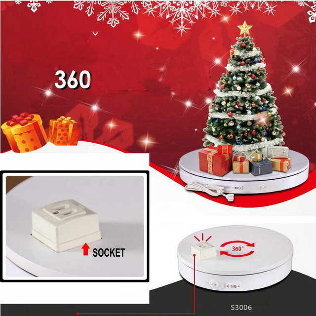 HQ SE01 Outlet Socket 300X60MM Electric Automatic Rotary Rotating Turntable Display Stand for Electric Items Show