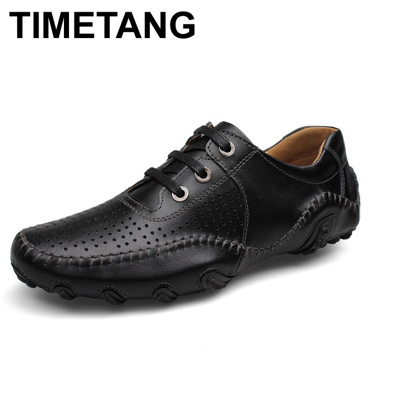 100% Genuine Leather Men shoes,plus size Casual Driving shoes,business shoes ,breathable moccasin Soft Loafers ,summer shoes