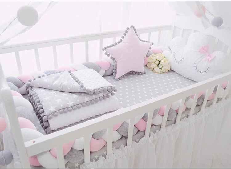 Diameter 2 meters Lovely Cartoon Knot Ball Cushion Pillow Baby Calm Sleep Dolls Stuffed Toys For Kids Boys Decor Bed bumper