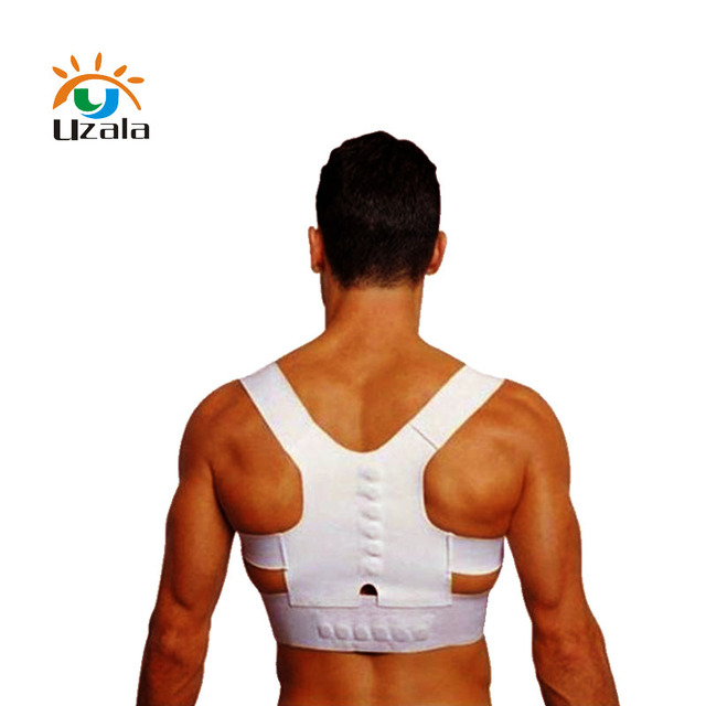 Neck protecting lumbar magnetic therapy belt to prevent hump correction posture belt W4-044