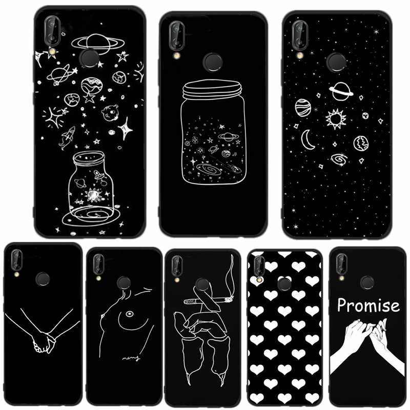 Soft TPU Case For Huawei P20 Lite Phone Cover For Huawei Mate 10 Lite P8 P10 P9 Lite Mini 2017 P Smart Back Case Silicone Fundas