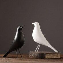 Creative European Resin Bird Statue Home Decor Crafts Christmas Marriage Gift Peace Dove Office Mascot Decoration