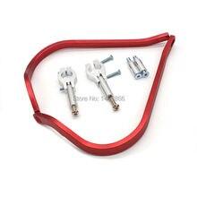 Evomosa rojo aluminio guardamanos 22mm universal moto motocross motocicleta off-road accesorios de motos atv shell protector de la mano
