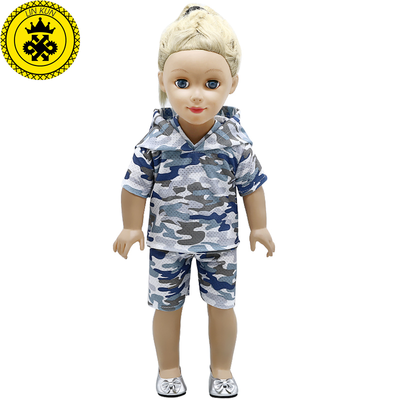 American Girl Doll Clothes 2 Styles Camouflage Suit for 18 inch American Girl Doll Accessories Children's Day Gift 610 american girl dolls clothing 6 styles elegant color flower print long dress for 18 inch doll clothes accessories girl x 40
