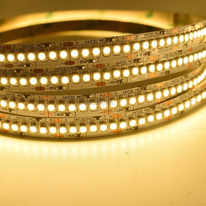 Free Shipping High Density LED Tape Single Row 240 leds/m DC24V SMD 3528 5M flexible strip Light for Indoor Lighting 5M/lot