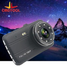Cheaper Dual Lens Mini Car Dvr Full HD 1080P Auto Camera Dvrs Dashcam Parking Recorder Night Vision 4.0 Inch