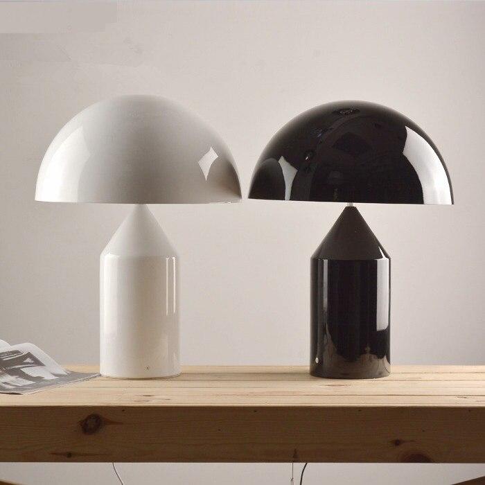 Гриб металлические настольные лампы Современные Простые Италия дизайн Белый Черный настольная лампа прикроватная гостиная офисные настол...