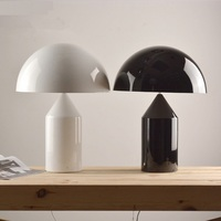 Mushroom metal Table Lamps Modern simple Italy design white black desk lamp bedside living room office table lamp FG923