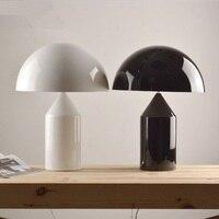 Mushroom metal Table Lamps Modern simple Italy design white black desk lamp bedside living room office table lamp FG923