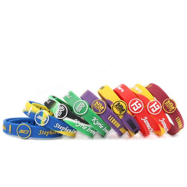 LA Lebron James Harden Iving Jordan Curry basketball player silicone  bracelets snaps adjustable wristbands for women and man 12f349fd30