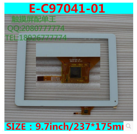 New 9.7 -inch tablet capacitive touch screen QSD E-C97041-01 white free shipping