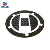 waase Motorcycle Real Carbon Fiber Fuel Cap Filler Pad Cover For Suzuki SV650 SV650S SV650A SV650F SV650SF SV1000 SV1000S 03 09