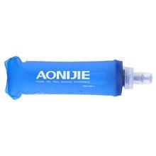 Aonijie 250 мл 500 мл ТПУ Мягкая бутылка для воды, складная сумка для воды, фляга для спорта на открытом воздухе, кемпинга, здоровья, BPA