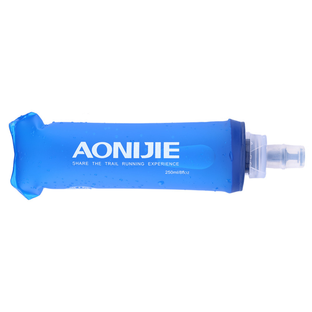 Aonijie 250ml 500ml TPU Soft Drink Water Bottle Folding Water Bag Flask For Outdoor Sport Camping  Health Free BPA