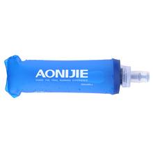 Aonijie 250ml 500ml TPU napój bezalkoholowy butelka wody składana torba na wodę kolba na zewnątrz Sport Camping zdrowie bezpłatne BPA tanie tanio 0 5l 180*60mm 7 87*2 36inch 200*80mm 7 87*3 15inch 0-40 C 250ml 500ml