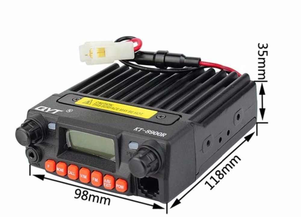 Mini Tri-banda Radio de coche QYT KT-8900R Comunicador UHF: 400-480 MHz/VHF: 136-174 MHz 240-260 MHZ 25 W Ham transceptor móvil KT8900R VOX