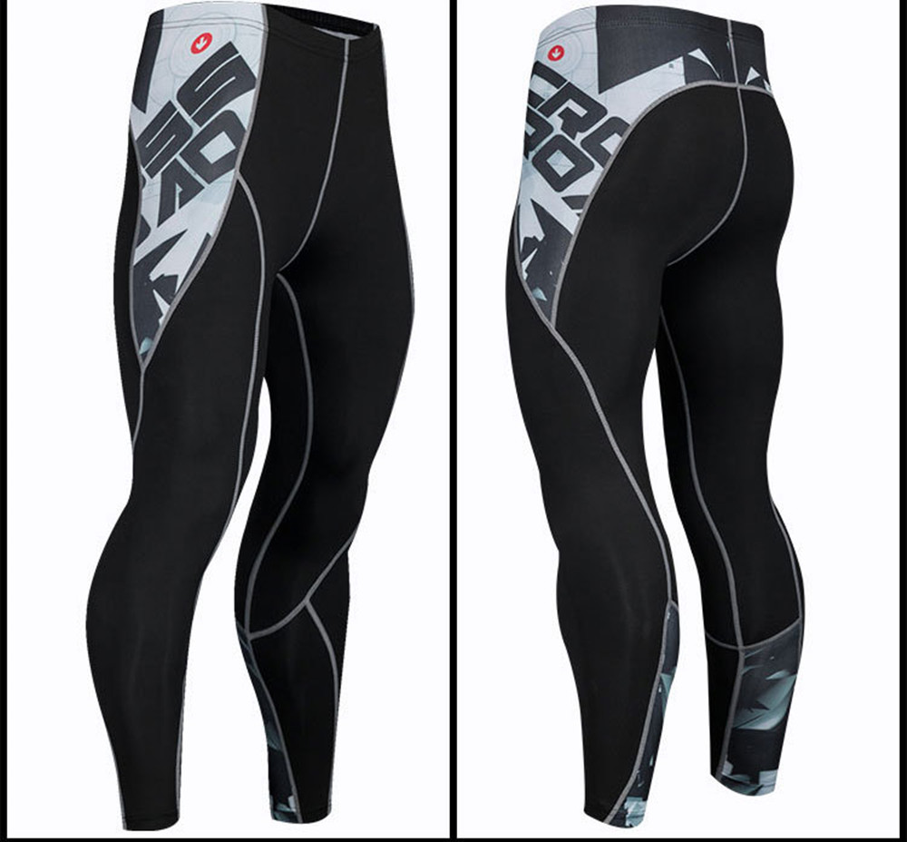 Vska Men Cartoon Breathable Bodysuit for Fitness Baselayer Leggings