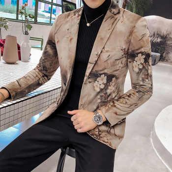 Luxury Mens Blazer British Style Wedding Party Blazer Masculino Europe Size Single Breasted Slim Fit Blazer And Jackets Men - DISCOUNT ITEM  46 OFF Men\'s Clothing
