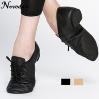 Woman S Leather Jazz Dance Shoes Lace Up Boots Practice Yoga Shoes Soft And Light Jazz