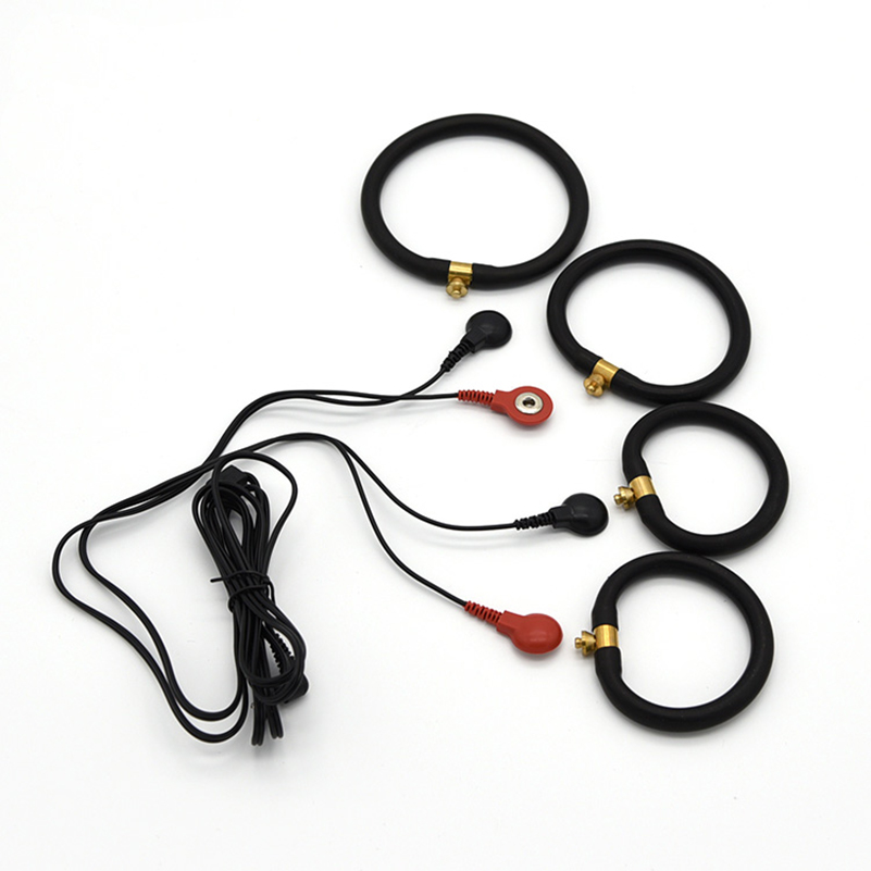 Electric Shock Medical Themed Toys Penis Rings Masturbation Cock Stimulator Penis Physical therapy rings Sex Toys For Men