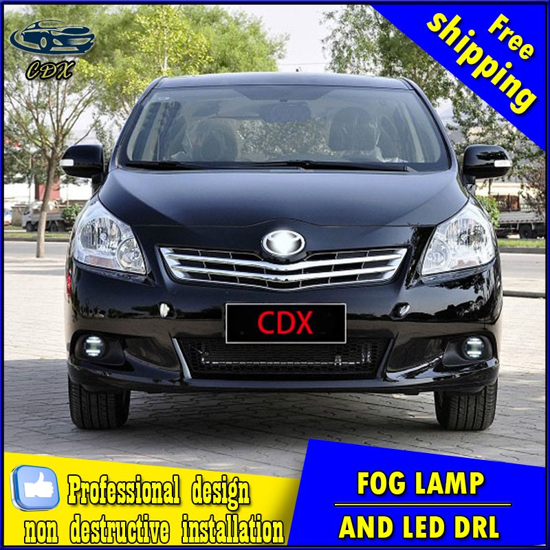Car-styling LED fog light for toyota Verso 2011-2015 LED Fog lamp with lens and LED day time running ligh for car accessories