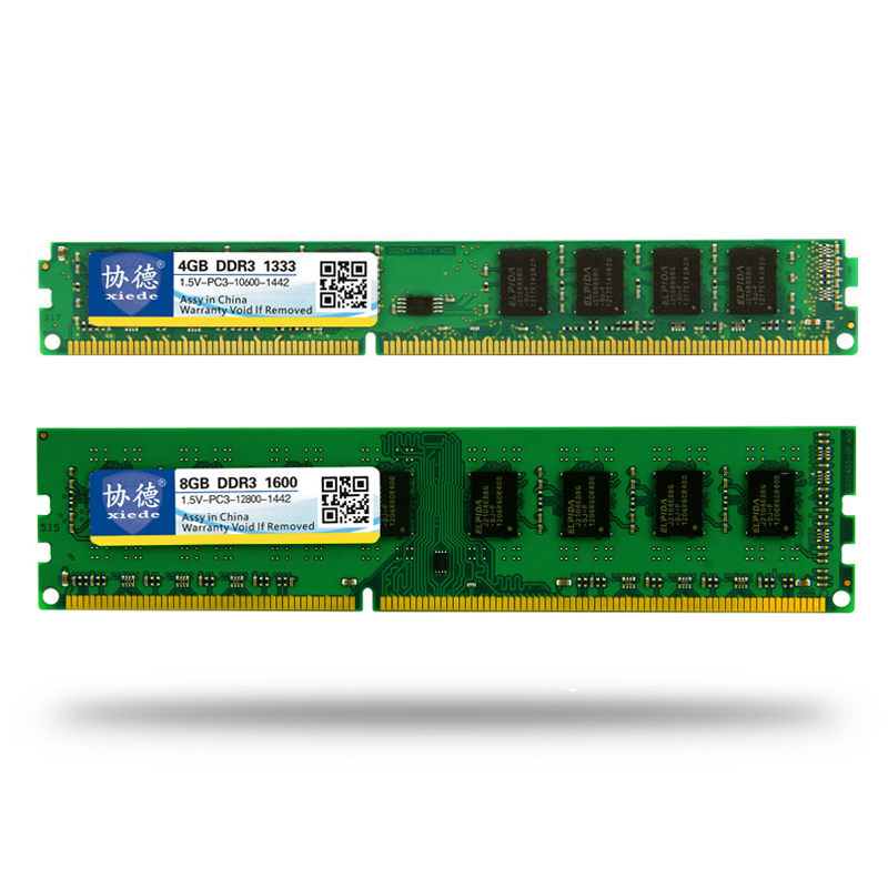 Brand Xiede Memory Ram 1 5v DDR3 1333 1600Mhz 2GB 4GB 8GB For Desktop Memoria PC3