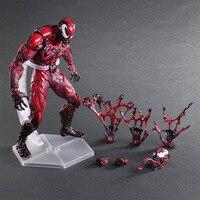 Spiderman Play Arts Kai Action Figure Venom Amazing Spiderman PVC Toy 25cm Anime Movie Model Venom