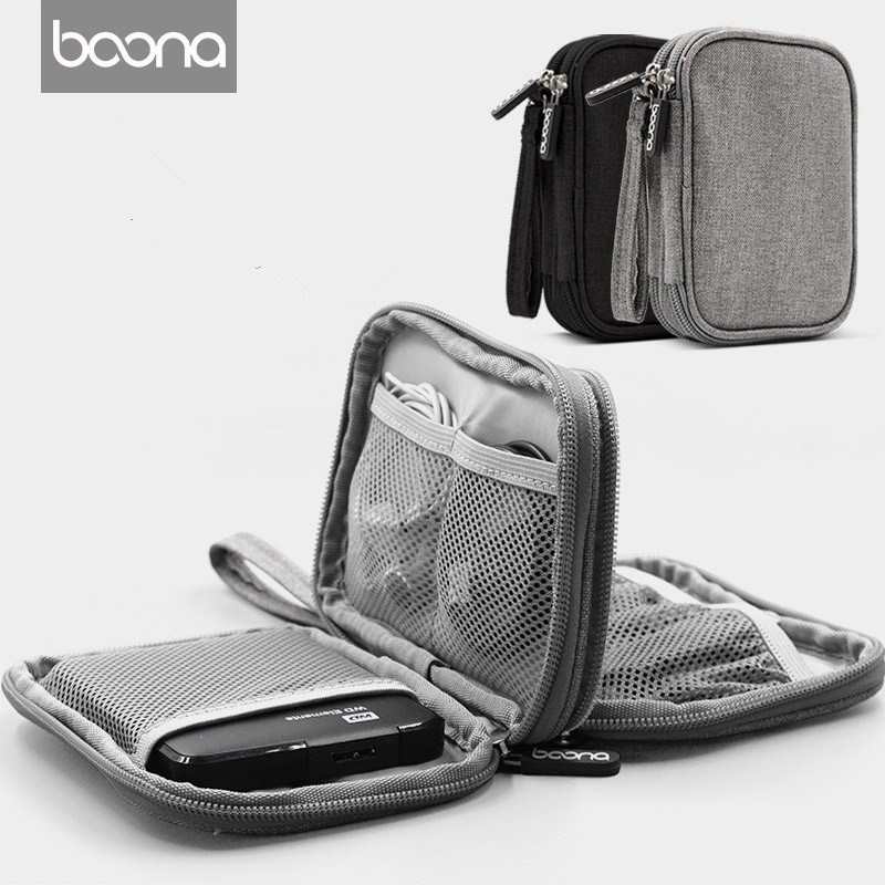 New Portable Electronics Accessories Organizer Travel Bag Cable USB Drive Case