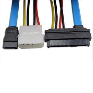 "7 Pin SATA Serial ATA to SAS 29 Pin & 4 Pin Power Cable Male Connector Adapter for 2.5"" inch HDD Hard Disk Drive F"