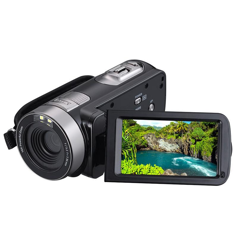 1080P HD IR Night Vision Digital Camera Video Recorder Camcorder DV DVR 3.0 Inch LCD 16x Zoom Cam Mini USB2.0 EU plug