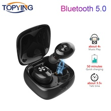 TWS Bluetooth Wireless Earbuds Gaming Headset Sports HiFi Stereo Earphone for Iphone Charging Box  DSP