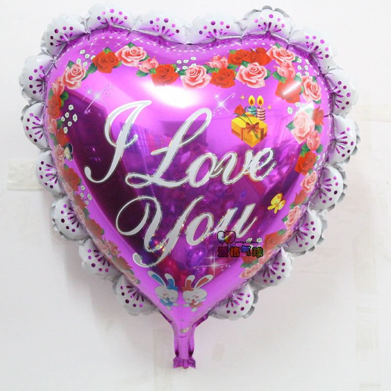 hot 10pcs/lot red 23inch big heart shape I LOVE YOU foil balloons for wedding Valentine balloons lovers birthday balloon