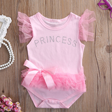 Adorable Lace Bow Pink Romper For Your Little Princess