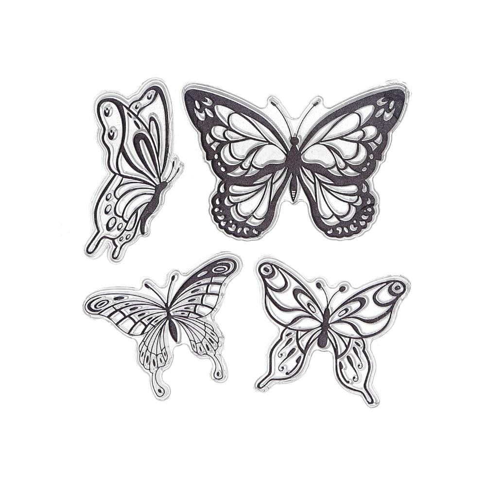 Buy CCINEE 1PCS 4 Butterfly Transparent