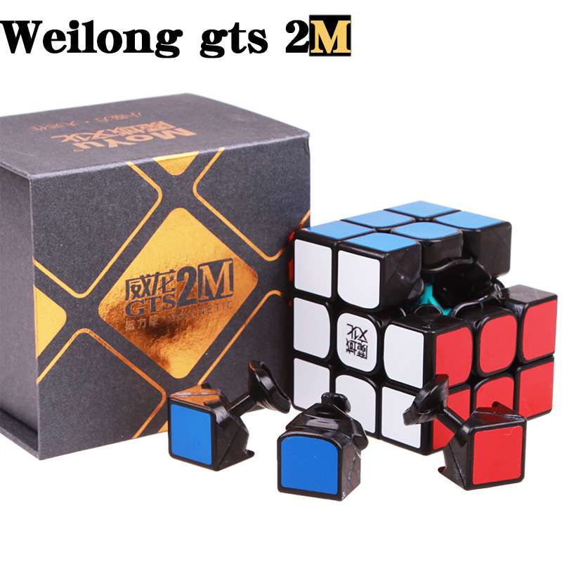 Moyu weilong gts V2 magnétique 3x3x3 Magic Speed cube Professionnel Stickerless gts2 Puzzle moyu cube aimants jouets Pour Enfants
