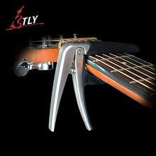 Aroma de alta calidad guitarra capo capo guitarra eléctrica acústica guitarra capo de cojín de silicona de aleación de zinc