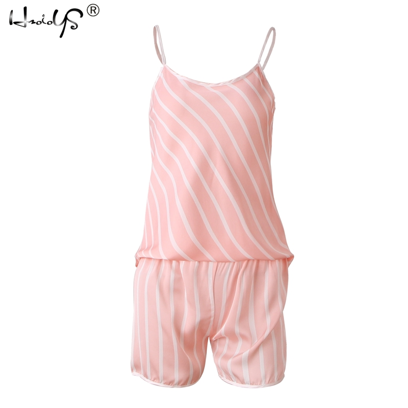 Sexy Stripe Satin Cami Top And Shorts   Pajamas     Set   2019 Summer New Women Spaghetti Strap Sleeveless Nightwear Home Clothing