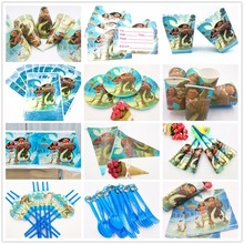 132pcs/lot Moana party supplies Decorations Kids Evnent Spiderman Party Supplies Birthday Tableware Sets Favors